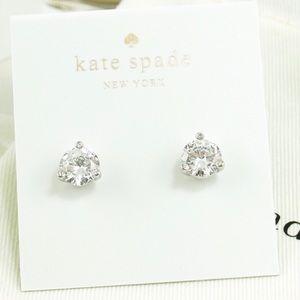 Kate spade silver rise and shine stud earrings